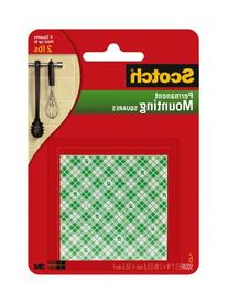 Scotch Foam Mounting Squares Permanent , 2 x 2 Inches ,White