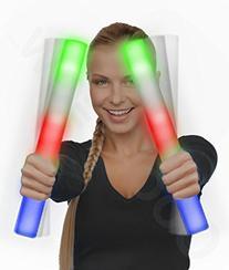Fun Central AQ074 LED Foam Stick Baton Supreme - Multicolor