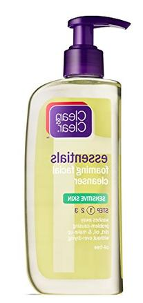 CLEAN & CLEAR Foaming Facial Cleanser Sensitive Skin 8 oz