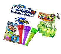 BUNCH O BALLOONS 3PK FOILBAG MIX-AQUA/ORANGE/YELLOW
