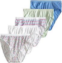 FOL Women's Plus Size Fit For Me 5-Pack Cotton Hi Cut