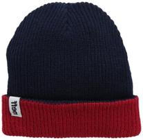neff Men's Fold Reversible Beanie, Navy/Red, One Size