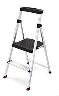Folding 2 Step Ladder Lightweight Aluminum Stool 225 Lb Home