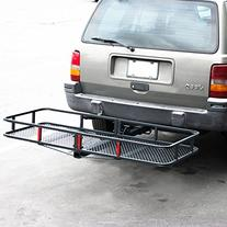 "ARKSEN Folding Cargo Carrier Luggage Basket 2"" Receiver"
