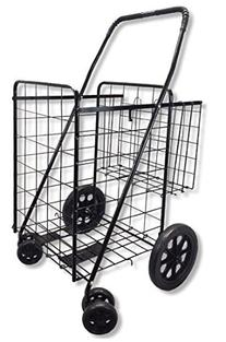 Wellmax WM99017S Double Basket Folding Shopping Cart with