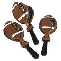 Lot of 12 Football Clappers Party Favors Game Noisemaker
