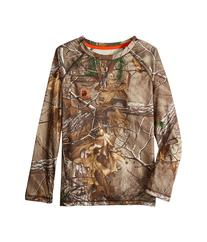 Carhartt Kids - Force Camo Raglan Tee   Boy's Long Sleeve