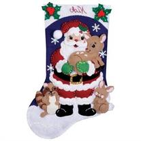 Forest Friends Stocking Felt Applique Kit-16 Long