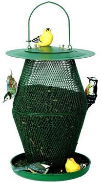 No/No Forest Green Lantern Bird Feeder  GL00323