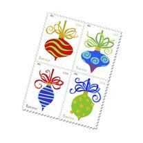 USPS Forever Stamps Holiday Baubles Booklet of 20