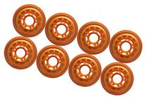 4-Pack Outdoor Formula Inline Skate Wheels Orange 76mm 83a