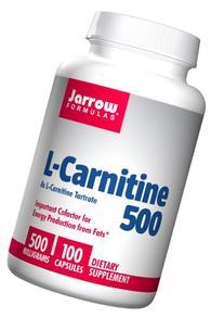 Jarrow Formulas - L-Carnitine, 500 mg, 100 veggie caps