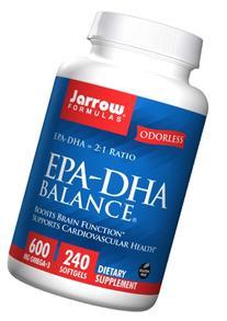 Jarrow Formulas EPA-DHA Balance Odorless, Supports Brain and