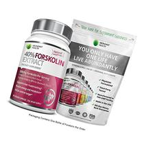40% FORSKOLIN COMPLEX 300MG Per Serving - 90 Veggie Caps -