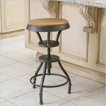 Noble House Fortune Fir Top Adjustable Bar Stool in Natural
