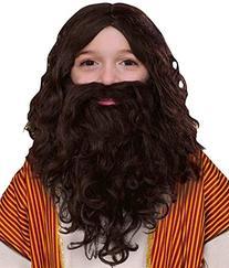 Forum Novelties Child's Biblical Wig and Beard Set, Brown
