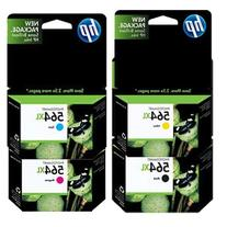 HP 564XL Color Four Pack - Includes Double Capacity -Black