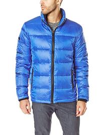 Calvin Klein Men's Four Layered Down, Royal Blue, Medium