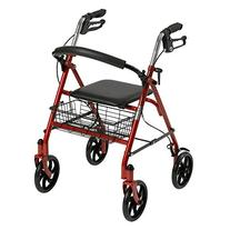 Drive Medical Four Wheel Rollator with Fold Up Removable