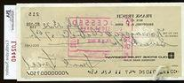 Frankie Frisch Jsa Authenticated Signed Check Autograph