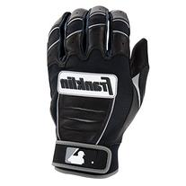 Franklin Sports MLB CFX Bro Batting Gloves, Black/Black ,