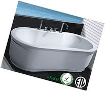 Freestanding Jetted Massage Hydrotherapy Bathtub, Indoor