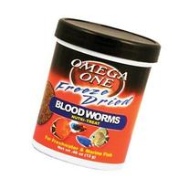 Omega One Freeze Dried Blood Worms, .46 oz