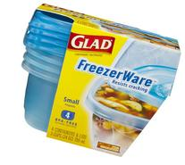 Glad FreezerWare Small Containers & Lids, 4 ct
