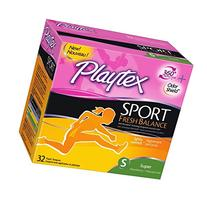 2 Pack Playtex Sport Fresh Balance Tampons, Super Scented,