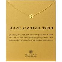 Dogeared Best Friend Ever Star Necklace, 18