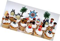 TOTORO and FRIENDS 18 Piece Birthday CUPCAKE Topper Set