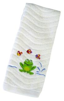 Saturday Knight Frog Mania Hand Towel, White