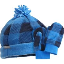 Columbia Frosty Fleece II Set - Toddlers' Hyper Blue Plaid,