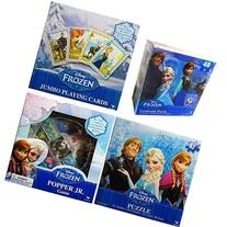 Disney Frozen 4 Games Value Set - Playing Cards + Popper Jr