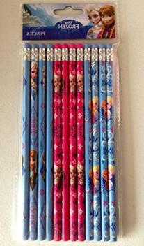 Disney Frozen Elsa Anna 12 Pieces Set Pencil Stationary