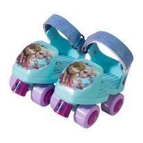 Disney Frozen Kids Glitter Rollerskates with Knee Pads,