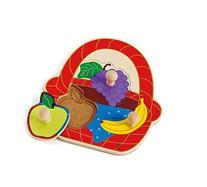 Hape Fruit Basket Toddler Wooden Knob Puzzle