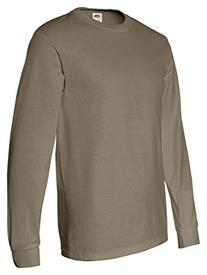 Fruit of the Loom Heavy Cotton Long-Sleeve T-Shirt, Khaki,