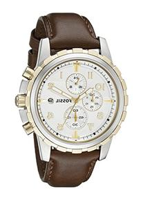 Fossil FS4788 Dean Chronograph Leather Watch - Brown