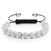 Fully Iced Out Hip Hop 15 White Disco Ball Adjustable Pave