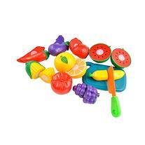 Fun Kids Fruit Cut Up Playset Cutting Set Chef Kitchen Role
