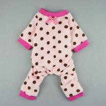 FurBaby Pink Cute Polka Dots Dog Coat for Pet Dog Pajamas