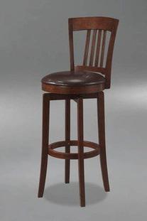 Hillsdale Furniture Canton 45.5-Inch Swivel Bar Stool, Brown