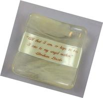 Fused Glass Quote Dish