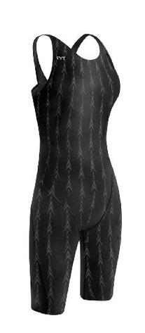 TYR Women's Fusion 2 Short John Swim Suit, Black, 34 -Inch