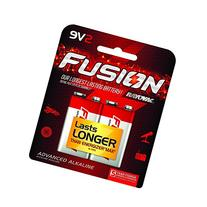 RAYOVAC 9V 2-Pack FUSION Premium Alkaline Batteries, A1604-