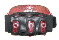 G.I. Sportz Paintball 3+4 Race Pack Harness - Black/Red