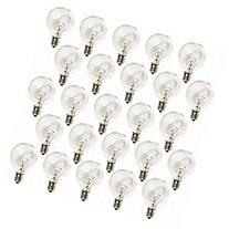 Deneve G40 Clear Glass Globe Bulbs with Candelabra Screw