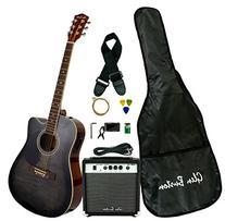 Glen Burton GA204BCO-BK Acoustic Electric Cutaway Guitar,