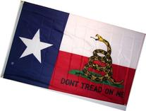 Gadsden Don't Tread On Me Texas State 5'x3' Flag